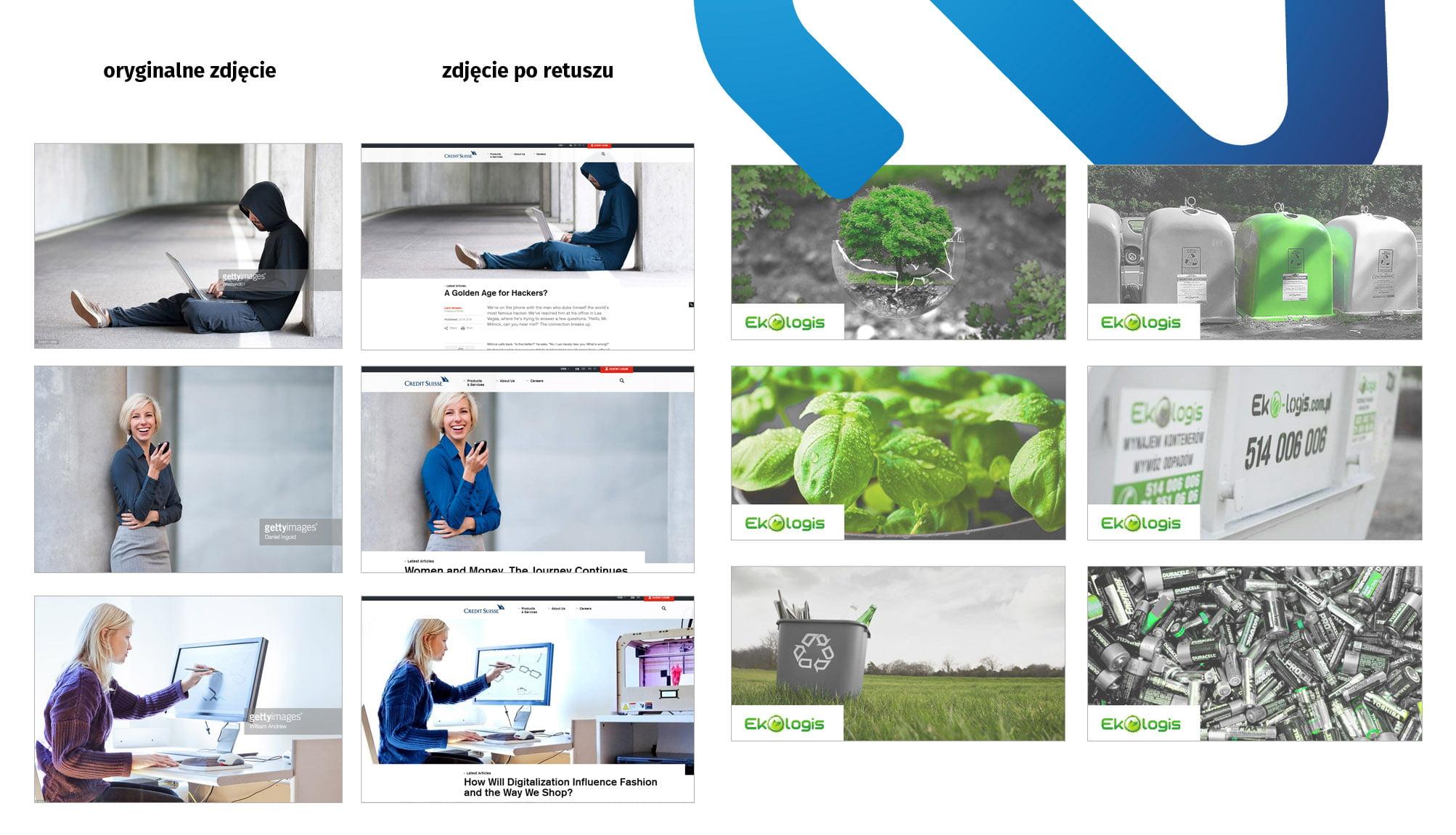 Przekolorowywanie zdjęć, filtr, spójny kolor w mediach społecznościowych, Identyfikacja wizualna credit suisse