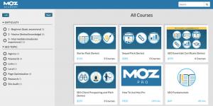 Kursy od MOZ Academy są podzielone 3 stopnie zaawansowania.